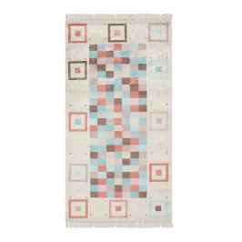 Zamatový koberec Deri Dijital Hakna Turquoise, 80 x 150 cm