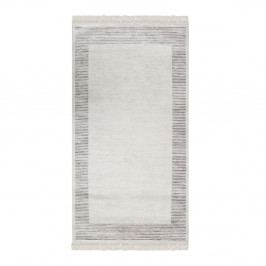 Zamatový koberec Deri Dijital Rosuna Grey, 80 x 150 cm