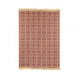 Červený koberec Ya Rugs Claret Red, 80×150 cm