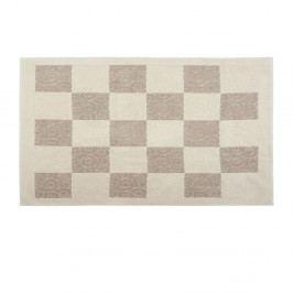 Krémový bavlnený koberec Check 80×150 cm