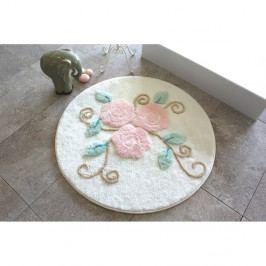 Kúpeľňová predložka s motívmi kvetín Rustical, Ø 90 cm