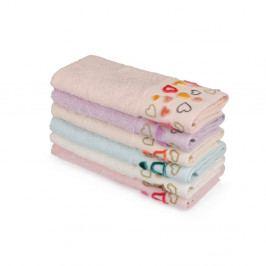 Sada 6 farebných uterákov z čistej bavlny Sri Lanka, 30 x 50 cm