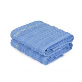 Sada 2 modrých uterákov z čistej bavlny Handy, 50 x 90 cm