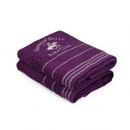 Sada 2 fialových uterákov na ruky Polo Club