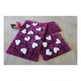 Sada 3 predložiek do kúpeľne Violet Soft