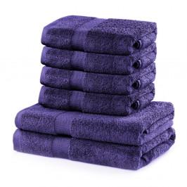 Set 2 fialových osušiek a 4 uteráka DecoKing Marina