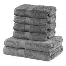 Set 2 sivých osušiek a 4 uteráka DecoKing Marina
