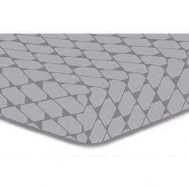 Sivá elastická plachta z mikrovlákna DecoKing Rhombuses, 140×200 cm