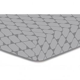 Sivá elastická plachta z mikrovlákna DecoKing Rhombuses, 220×240 cm