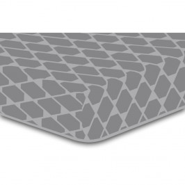 Sivá elastická plachta so vzorom DecoKing Rhombuses, 100×200 cm