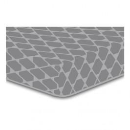 Sivá elastická plachta so vzorom DecoKing Rhombuses, 220×240 cm
