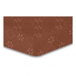 Hnedá elastická plachta so vzorom DecoKing Hypnosis Snowynight, 220×240 cm
