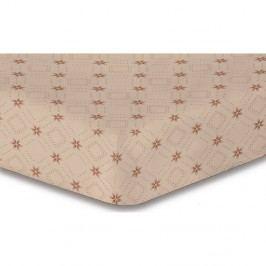 Béžová elastická plachta so vzorom DecoKing Hypnosis Snowynight, 120×200 cm