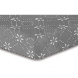 Sivá elastická plachta so vzorom DecoKing Hypnosis Snowynight, 220×240 cm