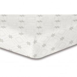 Elastická plachta s motívom kvetín DecoKing Hypnosis Snowynight, 100×200 cm