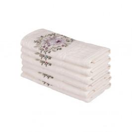 Sada šiestich uterákov s kvetinovou výšivkou Fleures, 50 × 30 cm