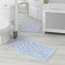 Sada 2 modrých kúpeľňových predložiek Breeze