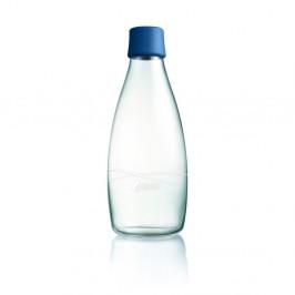 Tmavomodrá sklenená fľaša ReTap s doživotnou zárukou, 800ml