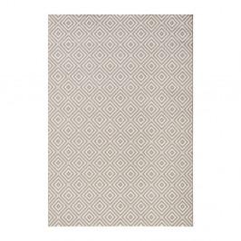 Sivý koberec vhodný aj do exteriéru Karo, 160×230 cm