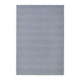 Modrý koberec vhodný aj do exteriéru Karo, 140×200 cm