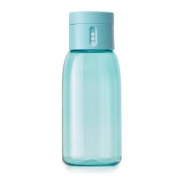 Tyrkysová fľaša s počítadlom Joseph Joseph Dot, 400 ml