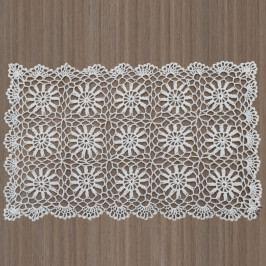 Biele čipkované prestieranie InArt, 30×45cm