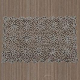 Sivohnedé čipkované prestieranie InArt, 30×45cm