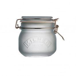 Mliečnomodry pohár s klipom Kilner, 0,5 l