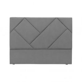 Sivé čelo postele HARPER MAISON Annika, 180×120 cm