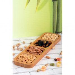 Bambusový podnos Kutahya Snacks, 33×10 cm