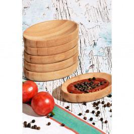 Sada 6 servírovacích bambusových tanierikov Hyde