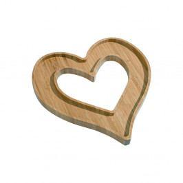Bambusová servírovacia miska Kutahya Heart, 26×25 cm