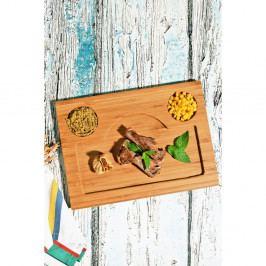 Bambusová servírovacia tácka Kutahya Snacks Foodie, 33×24 cm