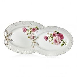 Sada 2 porcelánových servírovaciach tanierov Balada