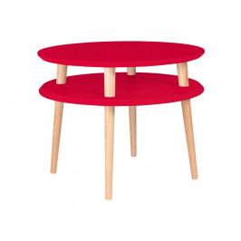 Červený konferenčný stolík Ragaba Ufo, ⌀ 57 cm