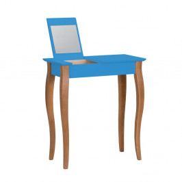 Modrý toaletný stolík so zrkadlom Ragaba Lillo, šírka 65 cm