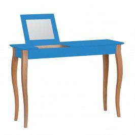 Modrý toaletný stolík so zrkadlom Ragaba Lillo, šírka 105 cm