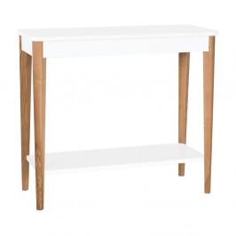 Biely konzolový stolík Ragaba Ashme, šírka 85 cm