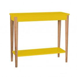 Žltý konzolový stolík Ragaba Ashme, šírka 85 cm