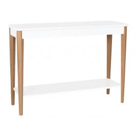 Biely konzolový stolík Ragaba Ashme, šírka 105 cm