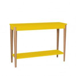 Žltý konzolový stolík Ragaba Ashme, šírka 105 cm