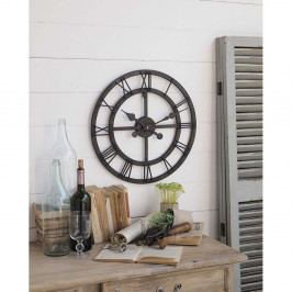 Nástenné hodiny Orchidea Milano Industrial Rusty Black, ⌀ 50 cm