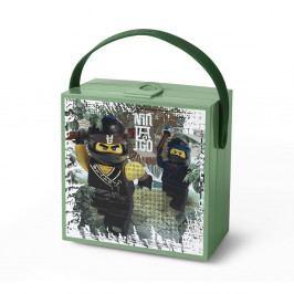 Zelený úložný box s rukoväťou LEGO® Army Ninjago
