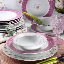Sada 24-dielneho porcelánového riadu Pinky Roso