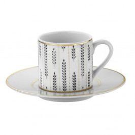 Sada 6 porcelánových šálok s tanierikom Kutahya Decadent, 50 ml