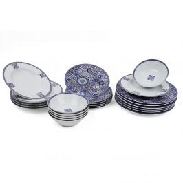 24-dielna sada tanierov z porcelánu Kutahya Maledives