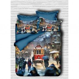Obliečky s plachtou na jednolôžko Tram, 160 × 220 cm