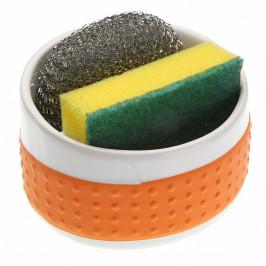 Oranžový držiak na umývacie pomôcky Versa Orange Support