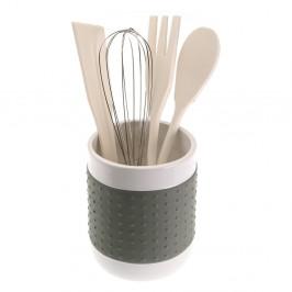 Set 4 sivých kuchynských nástrojov so stojanom Versa Con