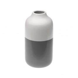Sivo-biela keramická váza Versa Turno, výška 23,2 cm
